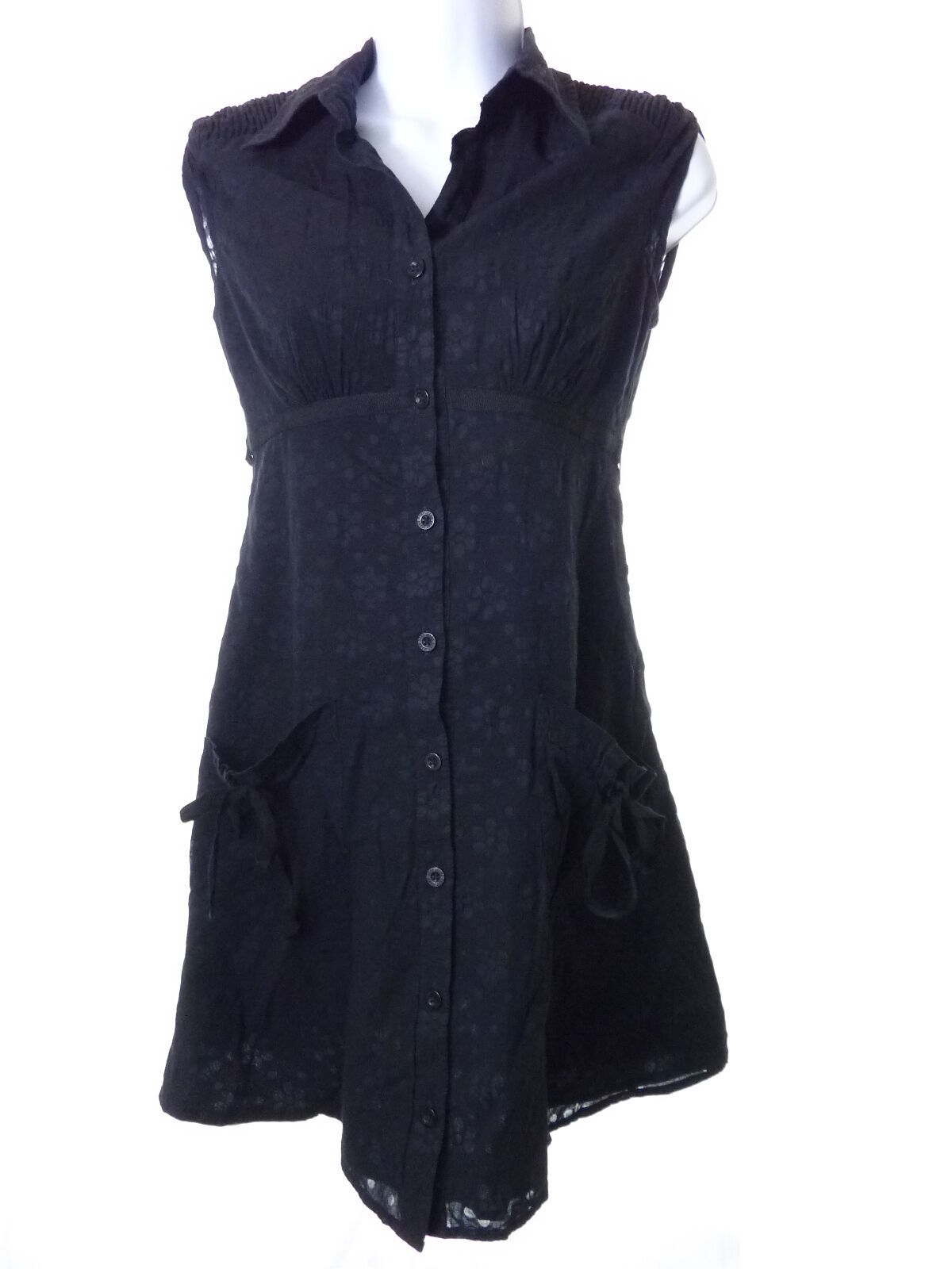 DKNY Jeans Black on Black Shirt Dress Size Small S