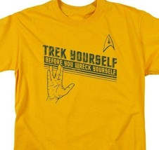 "Star Trek t-shirt ""Trek Yourself"" retro sci-fi TV series graphic tee CBS1109 image 2"