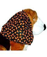 Handmade Dog Snood Halloween Black Orange Candy Corn Cotton Size Large - $12.50