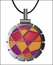 Bohin Jewel Fuschi/Orange Thread Cutter Pendant w/black leather cord - $18.50