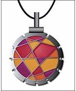 Bohin Jewel Fuschi/Orange Thread Cutter Pendant w/black leather cord - $18.50