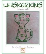 Shamrock Whiskerins cat cross stitch chart CM Designs - $7.65
