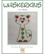 Rainbow Whiskerins cat cross stitch chart CM Designs - $7.65