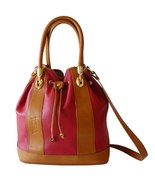 Authentic Valentina Red Leather Drawstring Buck... - $55.00