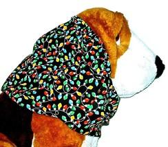 Dog Snood-Mini Christmas Lights Black Cotton-Christmas-Spaniel-Afghan-Small - $11.50