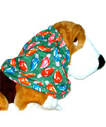 Dog Snood-Nostalgic Christmas Holiday LIghts Cotton-Basset-Afghan-Spanie... - $11.50