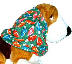 Dog Snood-Nostalgic Christmas Holiday LIghts Cotton-Basset-Afghan-Spanie... - $12.50