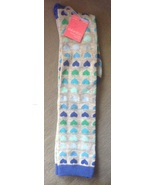 1 Pair Ladies Women's Grey With Blue & Green Hearts Socks Knee High One ... - $4.99