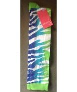 Ladies Women's Blue, Light Blue & Green Zebra S... - $4.99