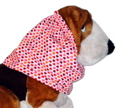 Dog Snood-Red Valentines Mini Hearts Sparkle Pink Cotton-Spaniel-Puppy R... - $10.50