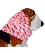 Dog Snood-Red Valentines Mini Hearts Sparkle Pink Cotton-Spaniel-Puppy R... - $10.50