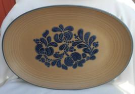 """Pfaltzgraff Folk Art Oval Serving Platter Tray Usa 14"""" - $22.76"""