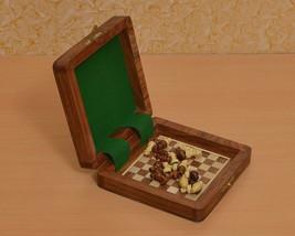 Travel Series Magnetic Book Chess Set in Sheesham & Box wood - SKU: D0102 - $44.99