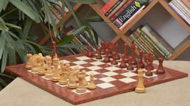 Staunton ChessSet in BudRosewood/Boxwood & RedAshBurlMaple Chessboard-4.... - $739.99