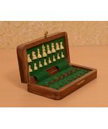 "Travel Series Folding Magnetic Chess Set Sheesham & Box Wood - 7"" - SKU:... - $55.99"