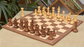 "Wooden ChessPieces in Sheesham/Box Wood & Walnut / Maple Chessboard - 4.5""-C0518 - $468.98"