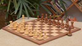 Combo of Fierce Knight Staunton ChessPieces & Walnut Maple Chessboard-4.... - $366.98