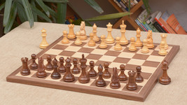 "Combo of Bridle Series Chess Pieces & Walnut Maple Chessboard - 3.0"" King C0506 - $275.98"