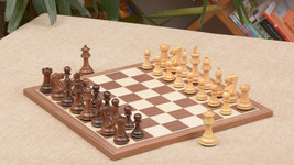 "Combo of Collector Chess Pieces & Walnut Maple Chessboard - 2.6"" King C0504 - $241.98"