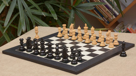 "Meghdoot Staunton ChessPieces & Black Anigre Maple Chessboard - 3.2"" Kin... - $378.98"