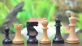 "Staunton Series Weighted Chess Pieces in Dyed wood & Box Wood - 3.8"" King S1241 - $158.99"