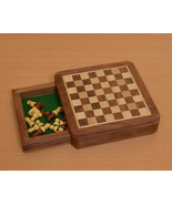 """Travel Series Wooden Magnetic Chess Set in Sheesham wood - 5 - 1/4"""" - SK... - $54.99"""