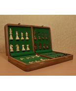 "Travel Series Folding Magnetic Chess Set in Sheesham & Box wood - 16""- S... - $219.99"