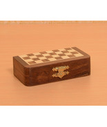 Travel Series Magnetic Pocket Chess Set in Sheesham & Box wood - SKU: D0101 - $42.99