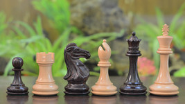 "Romeo Series Weighted Wooden Chess Pieces in Rose & Box Wood - 4.1"" King -VJ021 - $238.99"