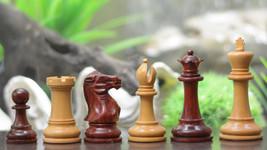 "The Staunton Mid Range Chess Pieces in Bud Rose & Box Wood - 3.5"" King - VJ010 - $229.99"