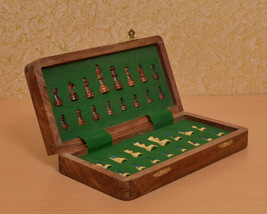 Travel Series Folding Magnetic Chess Set in Shesham & Box wood - 12 inches S1208 - $135.99