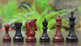 "Bridle Series Wooden Chess Pieces in Ebony & Bud Rose Wood - 3.58"" King - S1218 - $260.99"
