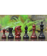 """Bridle Series Wooden Chess Pieces in Ebony & Bud Rose Wood - 3.58"""" King ... - $260.99"""