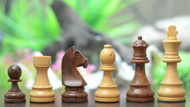 "Tournament Staunton Chess set with GermanKnight in Sheesham/Box Wood-3.7""- S1209 - $97.99"