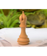 """Giant Monstrous Bishop Chess Piece in Box Wood Paper Weight - 5.1"""" Heigh... - $14.99"""