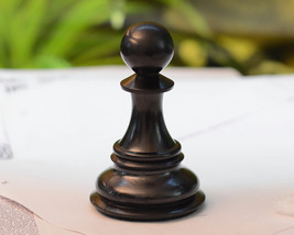"""Giant Monstrous Pawn Chess Piece in Ebony Wood Paper Weight - 3.3"""" Heigh... - $18.99"""