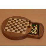 Travel Series Round Magnetic Chess Set in Sheesham & Box Wood - SKU: S1202 - $77.99