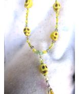 Yellow Howlite Skulls With Genuine Swarovski crystal accents - $27.00