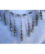 Swarovski Crystal choker....Rose Green swarovski crystal Teardrop Burles... - $48.00
