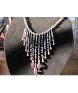 Swarovski crystal choker in Baby pink  - $51.00