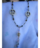 SKULL-A-RY...Skulls with a Bling!...White skulls  and Peace signs with  ... - $33.00