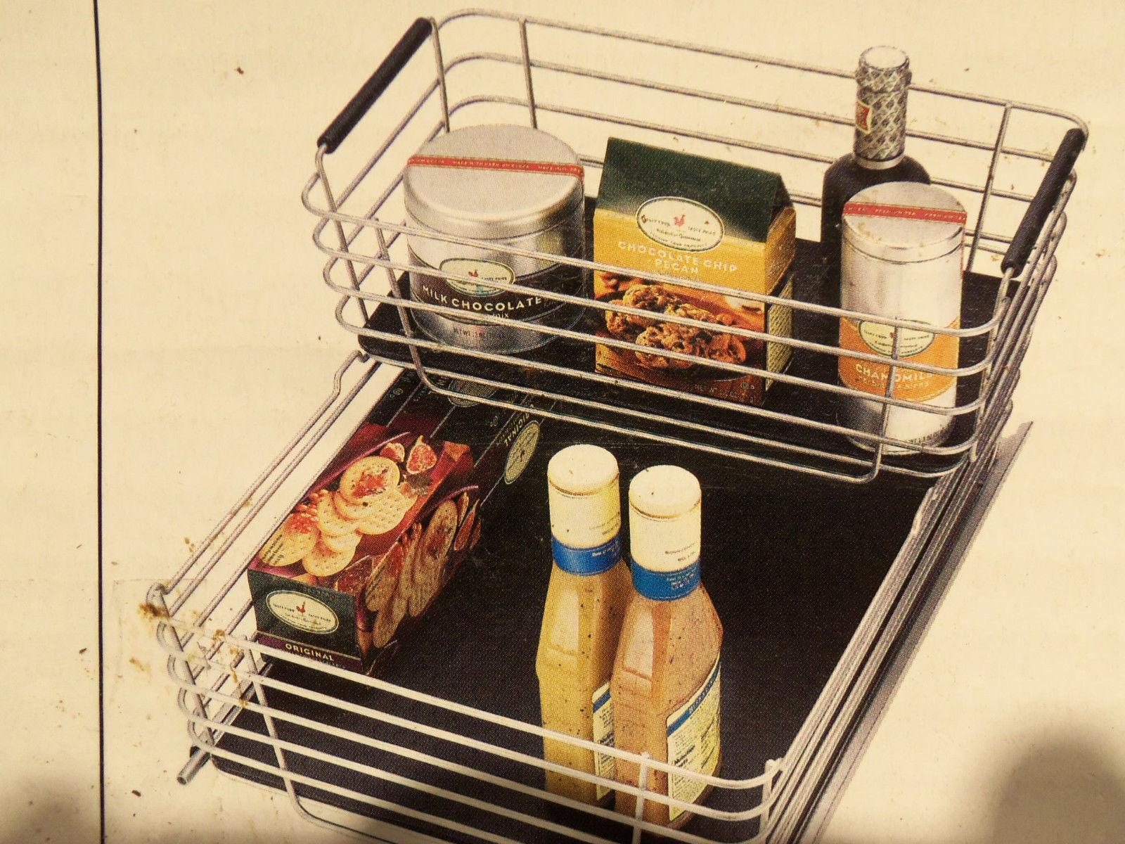 shelf cabinet sliding drawer metal organizer pull out