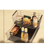 Shelf & Cabinet Sliding Drawer Metal Organizer Pull Out Storage Wire Bas... - $58.75