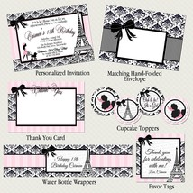 Paris & Poodles Printable Party Package: Invitation, Baby Shower, Birthday - $20.00