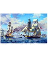 """WAR of 1812, ""BATTLE of LAKE ERIE""  13 x 10 in Fine Art  GICLEE CANVAS ... - $19.95"