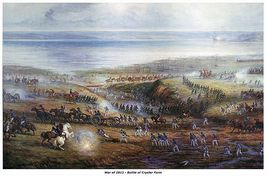 """WAR of 1812, """"Battle of Crysler Farm"""", 13 x 10 inches GICLEE CANVAS PRINT - $19.95"""