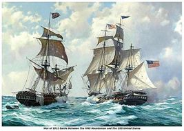 WAR of 1812, HMS Macedonian vs USS United Stat... - $19.95