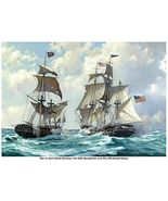 WAR of 1812, HMS Macedonian vs USS United States 13 x 10, GICLEE CANVAS... - $19.95