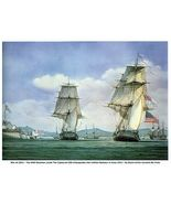 WAR of 1812, HMS Shannon Defeats USS Chesapeake 13 x 10 in GICLEE CANVA... - $19.95