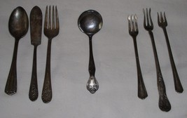 SILVERWARE VINTAGE LOT OF 7 MISCELLANEOUS - $24.99